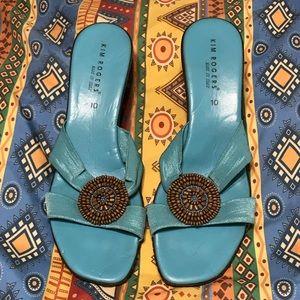 Kim Rogers Slide Wedge Sandals